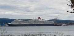 Queen Elizabeth Cruise Ship, from Balblair, Black Isle, 18th July 2018 (allanmaciver) Tags: queen elizabeth cruise ship vessel invergordon black isle scotland grey day dull liner cunard allanmaciver balblair