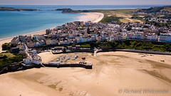 Tenby at low tide (WhitcombeRD) Tags: welsh resort sand tenby holiday relaxing vacation aerial summer town sea travel wales above drone ocean walled mavic tourism pembroke coastline pembrokesire beach tide coast harbour west unitedkingdom gb
