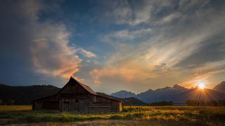 Moulton Barn at Sunset