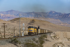 Questions, Questions, So Many Questions... (zwsplac) Tags: uprr union pacific railroad up train railway coal trona las vegas nevada sloan cima sub subdivision desert spring mountains summer heat red rocks signals uss codeline ballast ptc