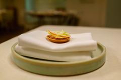 Chicken liver with apple and meringue (Premshree Pillai) Tags: stockholm sweden stockholmdec17 dinnerforone tastingmenu gastrologik food winter