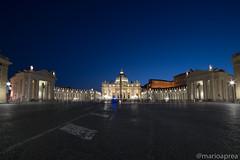 San Pietro (Mario Aprea) Tags: marioaprea basilica monumenti roma sanpietro sera church notte street architettura città city cielo building edificio