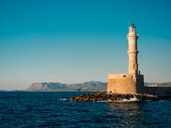 Lighthouse at Chania, Greece (kowalikus1) Tags: lighthouse chania harbour sea