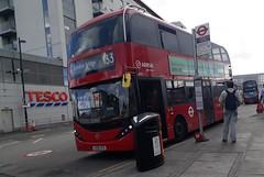Arriva London South HA52 LK66HCD   133 to London Bridge (Unorm001) Tags: ha52 ha 52 lk66hcd lk66 hcd red london double deck decks decker deckers buses bus routes route diesel hybrid electric dieselelectric battery batteryelectric hybridelectric