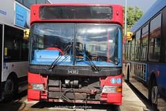 Stagecoach London 34382 (anthonymurphy5) Tags: dennisdart travel transport scrap outside gillmossbusgarage exstagecoachlondon34382 lx03bzp dennisdartslf plaxtonpointer2 seenatgillmossbusgarageliverpool