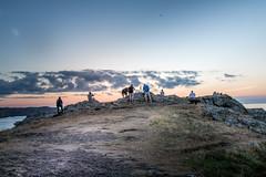 The Outing (garethleethomas) Tags: evening sunset friends landscape sky beautiful wales seascape uk