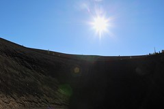 View from in the middle of crater (daveynin) Tags: crater sun cinder cone cindercone volcano volcanic