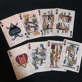Egyptian Glyph Playing Cards S&H
