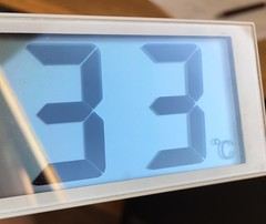 Today (Phil Gyford) Tags: 33 clock muji digital thermometer hot temperature