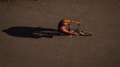 cyclist (Mariasme) Tags: fromabove cyclist bike bicycle pov transport challengeyouwinner cyunanimous travels