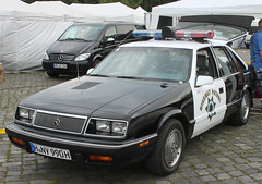 LeBaron police car (Schwanzus_Longus) Tags: street mag show german hannover germany us usa america american old classic vintage car vehicle sedan saloon chrysler le baron lebaron police law enforcement california highway patrol chp