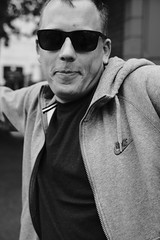 The man (michaelwilliams58) Tags: 35mmf14 fujifilm fuji xt20 nike blackandwhite acros hoodie sunglasses