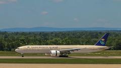 "Saudi Arabian Airlines, ""HZ-AK18"" (NoVa Truck & Transport Photos) Tags: boeing 777300 saudi arabian airlines aircraft plane jet dulles international airport kiad hzak18 passenger"