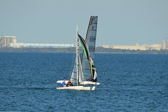 800_4427 (Lox Pix) Tags: queensland qld australia woodypoint hyc humpybongyachtclub winterbash foiling foilingcatamaran catamaran trimaran loxpix bramblebay boats