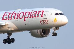 Ethiopian B787-9 ET-AUQ (José M. Deza) Tags: 20180808 b7879 bcn boeing etauq elprat ethiopian lebl planespotting spotter aircraft sticker