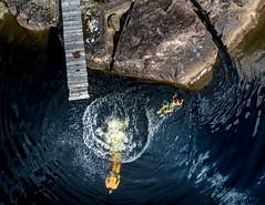 (Svein Skjåk Nordrum) Tags: dji djiair drone dive water rock splash perspective