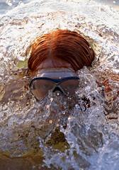 Hiding In The Wave (TomIrwinDigital) Tags: wave swim swimmer swimming lake water beach provincialpark ontario awenda georgianbay summer child fun