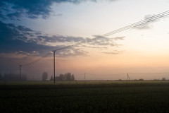 Telephone Lines On A Summer Evening (k009034) Tags: 500px copy space finland scandinavia tranquil scene agriculture cable clouds communication countryside evening farm farming fields landscape mist nature night no people rural sky summer sunset telecommunications telephone line pole trees wire dramatic moody dusk horizon over land twilight electricity pylon fog sunbeam teamcanon copyspace tranquilscene nopeople telephoneline telephonepole
