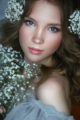 ***** (TatianaAntoshina) Tags: girl closeup light people canon photo flowers eyes