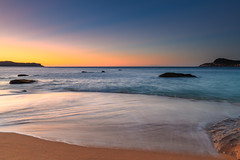 Sunrise Seascape with Clear Skies (Merrillie) Tags: daybreak sunrise nature dawn morning coast water northpearlbeach sea newsouthwales rocks pearlbeach nsw rocky waterscape ocean earlymorning landscape waves coastal clouds outdoors seascape australia centralcoast sky seaside