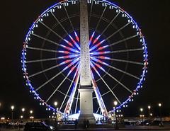 Vive la France (albyn.davis) Tags: wheel night light colors blue column paris france europe travel obelisk structure