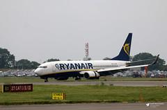 EI-EKP Boeing 737-8AS, Ryanair, Bristol Airport, Lulsgate Bottom, Somerset (Kev Slade Too) Tags: eiekp boeing737 ryanair fr8217 ryanair99gk runway09 eggd bristolairport lulsgatebottom somerset