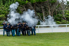 Fort Macon - Troops (Vawxish) Tags: civilwar war fortmacon reenactment northcarolina union beach atlanticbeach ww2 combat fort guns battle america freedom canon canon5dmarkiv 200mm ocean atlantic