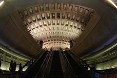 into the mothership (philliefan99) Tags: washingtondc districtofcolumbia downtown wmata metro subway escalator concourse train dcist