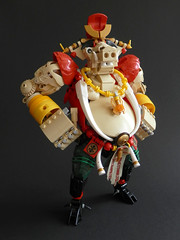The Year of the Pig (Kingmarshy) Tags: lego bionicle hero factory moc food pig chinese china oriental new year lunar party dishes npu lantern table meal zodiac bajie zhu journey west wukong holidays