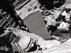 Disturbing dimension (LUMEN SCRIPT) Tags: angle perspective shadow light nature westernaustralia australia wa blackandwhite waterfall landscape abstractimpressions monochrome adifferentpointofview mountain rock layers water geology monochromelandscape pov pointofview