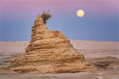 Mungo Moon (Darkelf Photography) Tags: lake mungo nsw newsouthwales australia outback lunette dunes moon moonrise dusk twilight evening outdoors landscape travel rocks geology nature canon nisi 70200mm 5div maciek gornisiewicz darkelf photography 2018