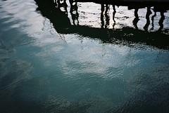 Entrance Lock reflections (knautia) Tags: floatingharbour entrancelock reflection withtrapac bristol england uk july 2018 film ishootfilm kodak ektar 100iso olympus xa2 olympusxa2 nxa2roll42 harbour docks
