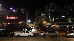 Montevideo by night (Raúl Alejandro Rodríguez) Tags: carteles letreros signs calle street edificios buildings autos cars montevideo república oriental del uruguay