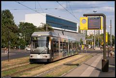DVB 2506 @ Dresden Straßburger Platz (Steven De Haeck) Tags: ngt6dder dwa bautzen tram dresden strasburgerplatz sachsen deutschland duitsland dvb dresdnerverkehrsbetriebe strassenbahn