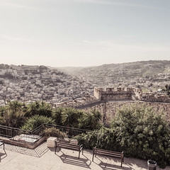 Jerusalem from the Old City (bior) Tags: israel square fujifilmxpro2 xf16mmf14 jerusalem oldcity hills village dust