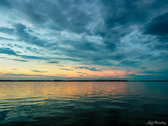 Cloudy Sunset (jiroseM43) Tags: choptankriver sunset clouds river nature water em1markii m43 1240mm olympus