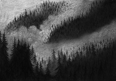 (Malykhanov) Tags: dark drawing draw atmosphere art sky sketch sketchbook nature night woods wood illustration black bw blackwhite blackandwhite mountains mist monochrome mysticism mystic magic shamanism clouds cloud graphic forest fog