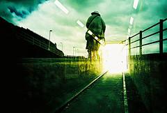 Lomo – walk toward the light (lomomowlem) Tags: 35mm analogue crossprocess colourstreambrighton doubleexposure expiredfilm kodakelitechrome lomo lomography lca lofi multipleexposure mxbutton tunnel xprocess xpro clouds lights margate
