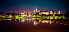 Cracow (Pan Adrian M.) Tags: cracow photo lights lovely city night poland sony river colors architecture