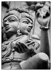 Namaste Y'all (Randy Heinitz) Tags: hindu deity namaste cary northcarolina nc spirituality canon canonef85mm118 blackandwhite bnw documentaryphotography documentaryphotographer ngc