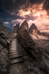 Hiking alone... (Croosterpix) Tags: landscape nature mountains dolomiti dolomites tre cime tyrol trail hiking sony a7r nikkor1835