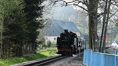 2018-04-21 Steam Locomotive is coming 3 (beranekp) Tags: germany deutschland sachsen saxony schmiedeberg erzgebirge krušné hory lokomotiva locomotive lokomotive steam dampf