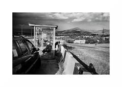 On the road - Georgia (Punkrocker*) Tags: leica m7 summicron asph 35mm 352 film kodak trix 400 nb bwfp people road cloud storm georgia géorgie travel