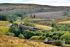 Deforestation (whosoever2) Tags: uk united kingdom gb great britain england nikon d7100 train railway railroad august 2018 denthead viaduct settle carlisle 6c89 mountsorrel drs class66 66303 landscape pennine yorkshire