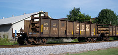 CSXT 920027 X-C&O 12-1957 built 05-1987 repainted 40-foot gondola converted for continuous-welded rail MOW service on CSX in Cartersville GA 9:19AM 07-28-2018 (Patrick B. Harris III) Tags: csx csxt train railroad railcar rollingstock gondola mow ribbonrail continuousweldedrail mw maintenanceofway co cartersville georgia