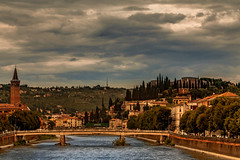 City of Love (BeNowMeHere) Tags: ifttt 500px trip architecture benowmehere bridge city cityoflove italy juliet romeo tuscany verona cityscape clouds travel arch townscape building exterior river riverbank skyline famous place canal promenade