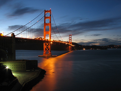 san francisco golden gate bridge at night. Night San Francisco Golden