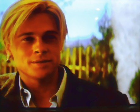 "Brad Pitt in 'Seven Years in Tibet"". Movie still from ""Seven Years in Tibet"""