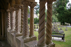 Wilton Church cloister (Whipper_snapper) Tags: uk england wiltshire wilton italianate wilts stmaryandstnicholas