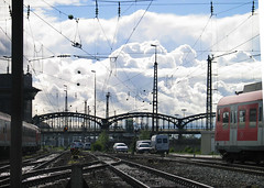 . (hn.) Tags: auto bridge sky copyright cloud cars car station clouds train germany munich mnchen bayern deutschland bavaria heiconeumeyer europa europe track traffic transport tracks bridges eu himmel wolke wolken rail railway zug bahnhof trains railwaystation hauptbahnhof trainstation cielo rails depot autos publictransport brcke verkehr europeanunion powersupply trainstations schiene brcken zge copyrighted railroadstation schienen fahrzeuge wagen stromleitung maintrainstation bahnhfe centraltrainstation mnchenhauptbahnhof munichtrainstation mnchenhbf munichcentraltrainstation passengertraffic personenverkehr